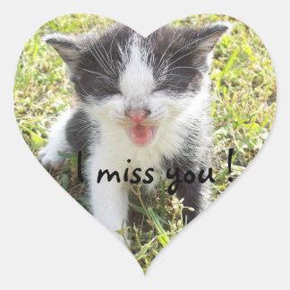I miss you heart sticker