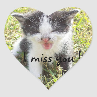 I miss you heart sticker