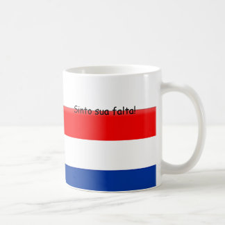 I miss you Holland Brazil Classic White Coffee Mug