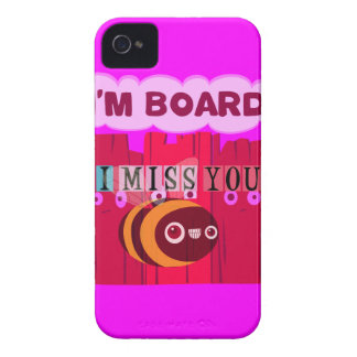 I Miss You I am Bored iPhone 4 Covers