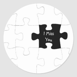 I Miss You Jigsaw Puzzle Sticker
