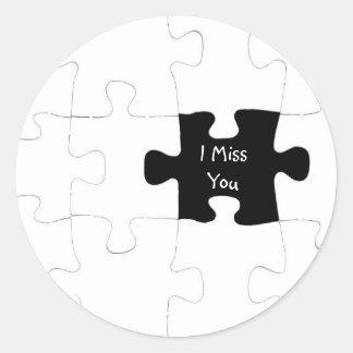 I Miss You Jigsaw Puzzle Sticker
