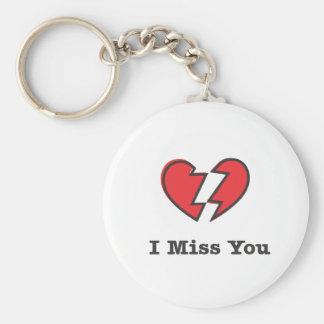I Miss You Keychain