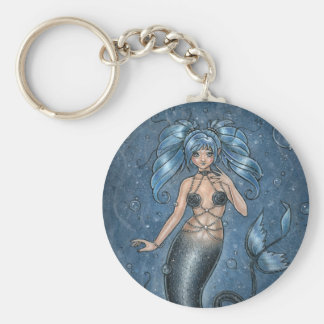 I Miss You Mermaid Keychain