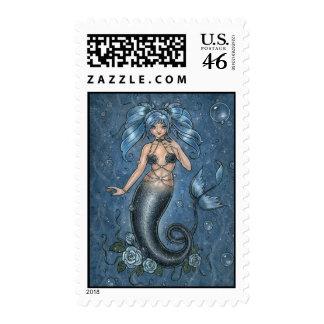 I Miss You Mermaid Postage Stamp
