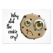 I MISS YOU mom cookie joke Invitation