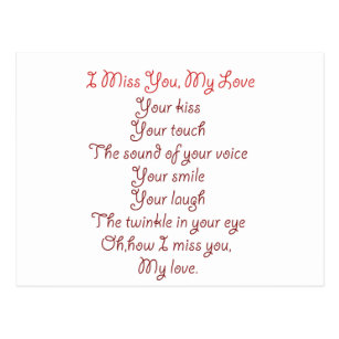 I miss and love you poems