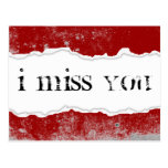 i miss you page rip postcard
