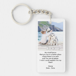 I Miss You Pet Memorial Keychain
