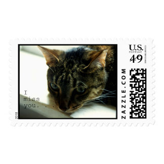 I Miss You Postage Stamp