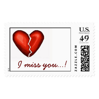 I miss you...! postage