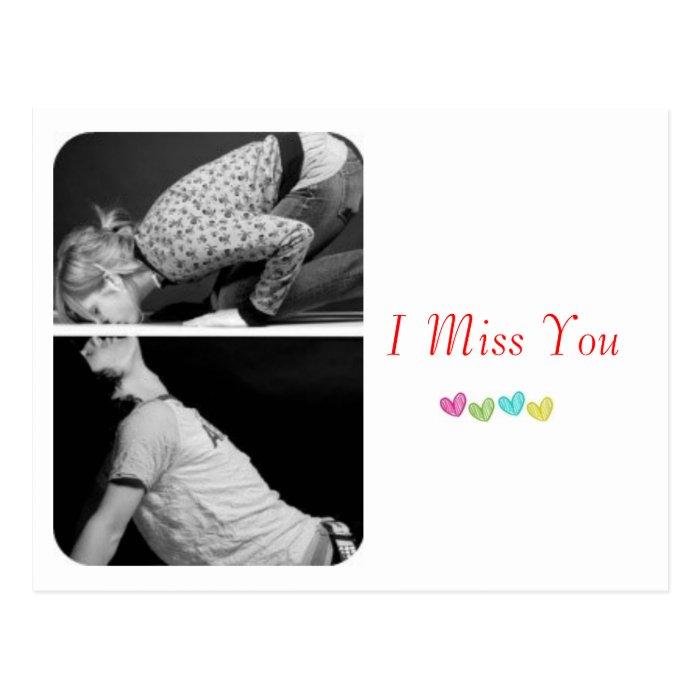 """""""I Miss You"""" postcard"""