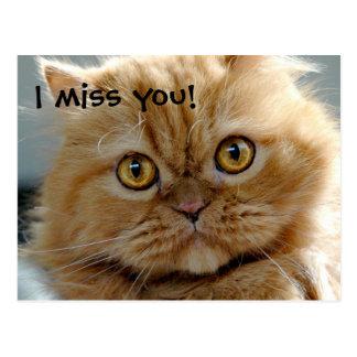 I miss you! postcard