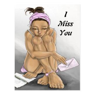 I Miss You - Postcard
