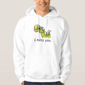 I Miss You Sad Lonely Crying Weeping Caterpillar Hoodie