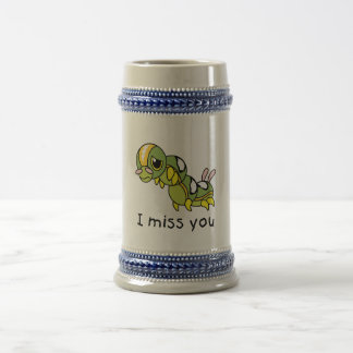 I Miss You Sad Lonely Crying Weeping Caterpillar Coffee Mug