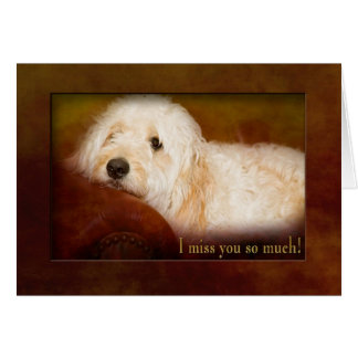 I MISS YOU SO MUCH - GOLDEN DOODLE (PET) ON SOFA CARD