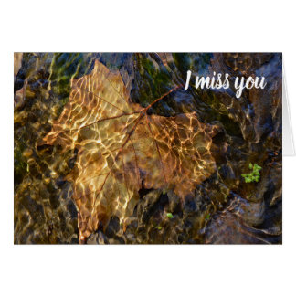 I Miss You So Much! Nature Photography Card