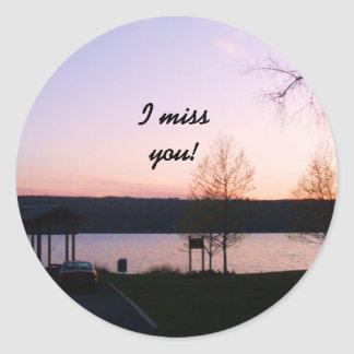 I MISS YOU stickers