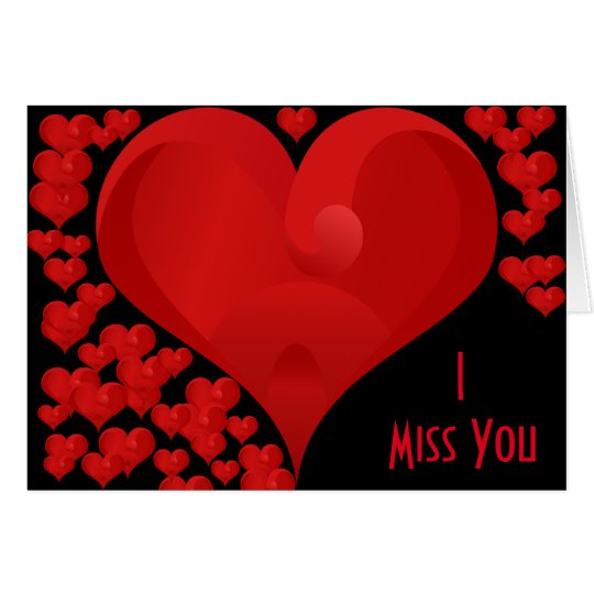 I Miss You, Sweet Valentine Love Hearts Card   Zazzle