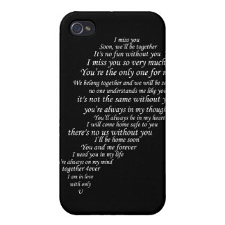 I Miss You Text, too, in Half of Heart Cover For iPhone 4