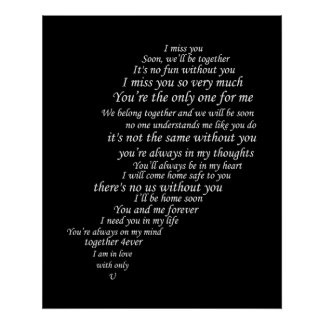 I Miss You  Text, too,  in Half of Heart Poster