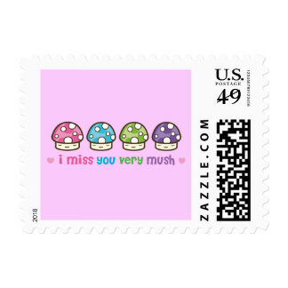 i miss you very mush! postage stamp