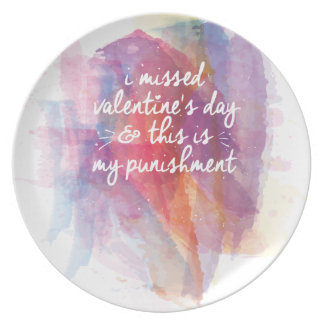 I missed valentine's day and this is my punishment plates