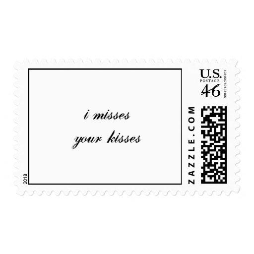 i misses your kisses postage stamp