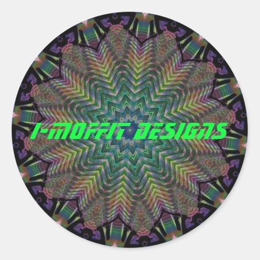 I-MOFFIT DISEÑA al pegatina del logotipo