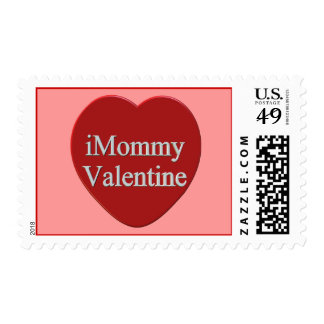 I Mommy Valentines Day T-shirts and Gifts Stamp