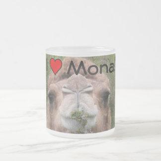 I ♥ Mona! Frosted Glass Coffee Mug
