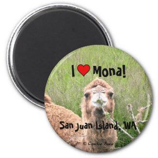 ¡I ♥ Mona! Imán Redondo 5 Cm