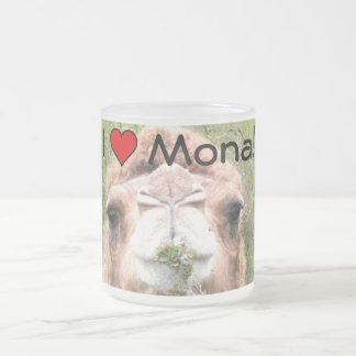 I ♥ Mona! 10 Oz Frosted Glass Coffee Mug