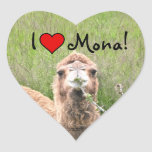¡I ♥ Mona! Pegatina En Forma De Corazón
