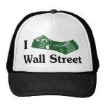 I Money Wall Street T-shirt Mesh Hats