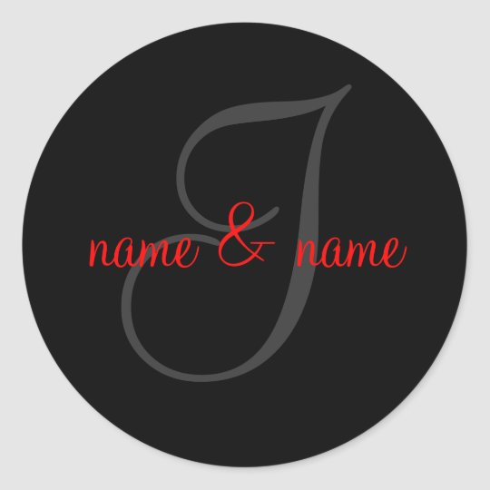 I monogram label