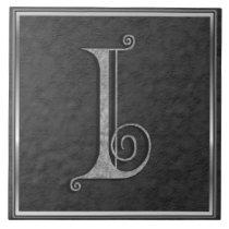 """I Monogram """"Medieval Grey Stone"""" Ceramic Tile"""
