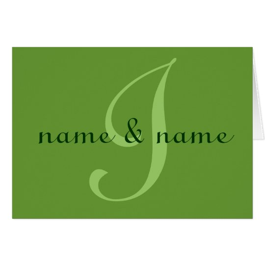 """""""I"""" monogram note card - personalize first names"""