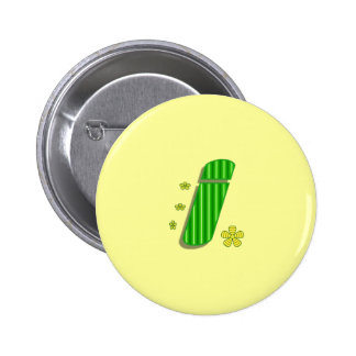 I monogram pinback button