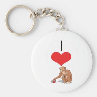 I monos del corazón (amor) llavero redondo tipo pin