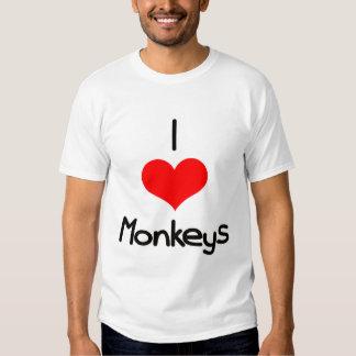 I monos del corazón (amor) playera