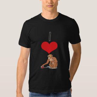 I monos del corazón (amor) polera