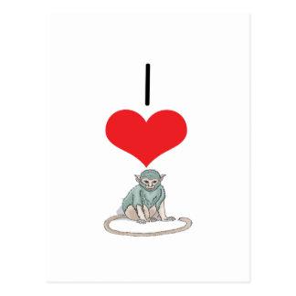I monos del corazón (amor) postales