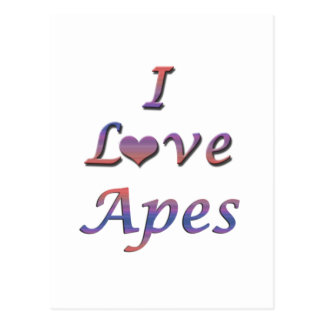 I monos del corazón (amor) tarjeta postal