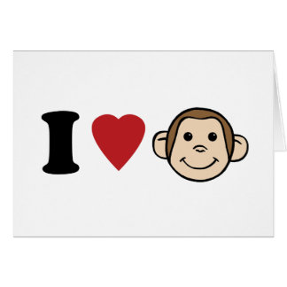 I monos del corazón tarjeta de felicitación