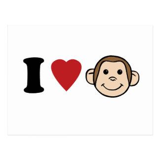 I monos del corazón tarjeta postal