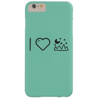 I montañas del corazón funda para iPhone 6 plus barely there