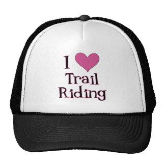 I montar a caballo de rastro del corazón gorras de camionero
