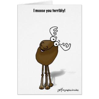 I moose you! card
